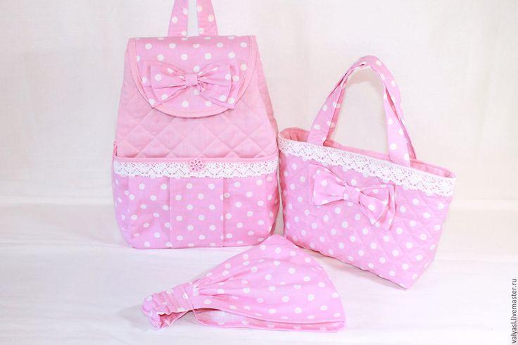 Купить Маленькая модница - розовый, в горошек, рюкзак для девочки, детский…