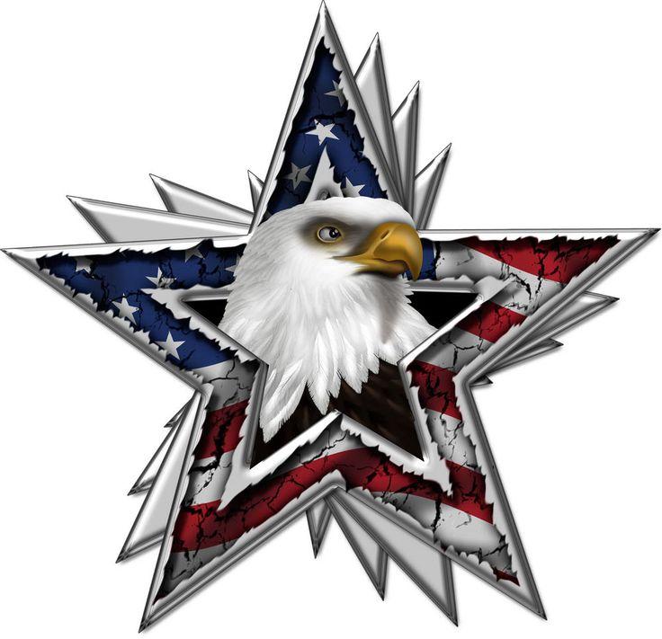 American Flag Eagle Star Car Truck Hood Decal Rv Motorhome