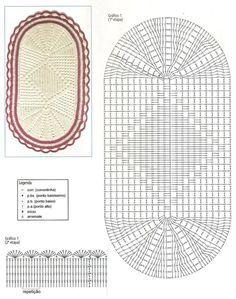 Tapete de barbante feito em crochê - fotos de gráficos