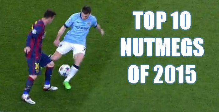 Watch the Top 10 Nutmegs of 2015, awesome video compilation of the best nutmegs of the year gone past. http://ow.ly/Wvklj #skills #soccer #soccerskills #football #footballskills #nutmegs #top10 #awesome #epic
