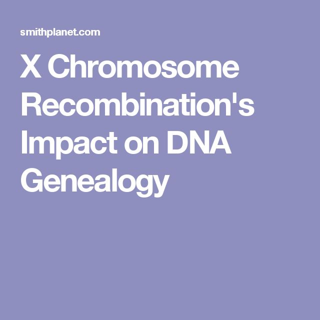 X Chromosome Recombination's Impact on DNA Genealogy