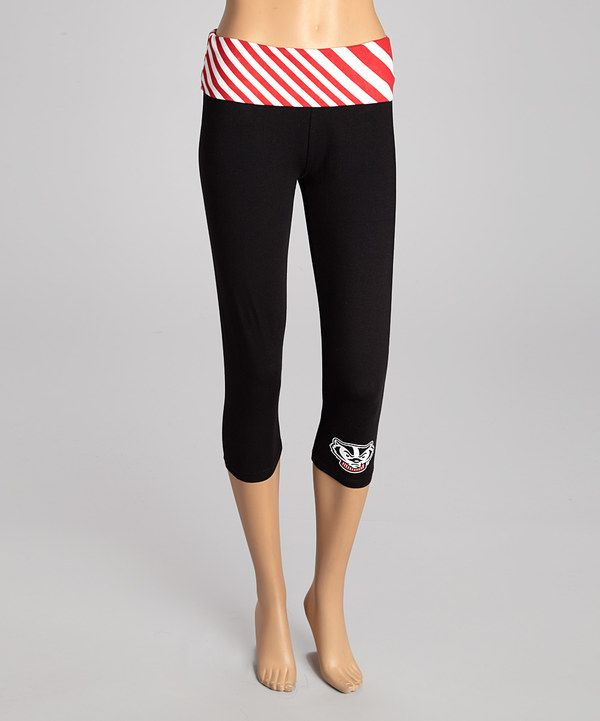 Loving this NCAA Wisconsin Badgers Capri Leggings on #zulily! #zulilyfinds not even a badgers fan, but I really want these!