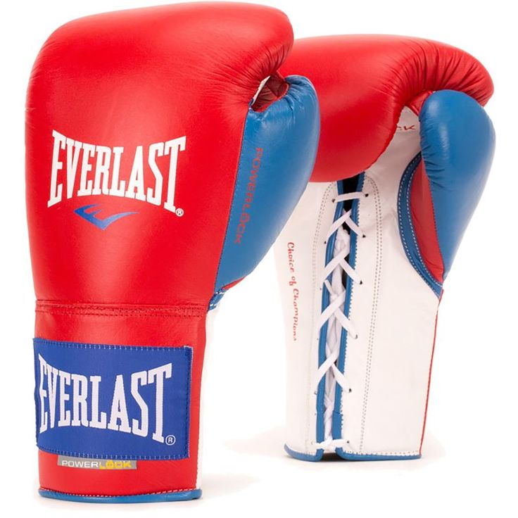 Everlast Powerlock Pro Fight Boxing Gloves, Red