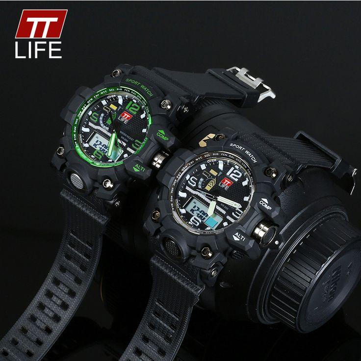 TTLIFE Original Watch Men Sport Digital Men Watches Waterproof Mens Wristwatch Relogio Time Hour Clock Reloj Hombre Mens Watches #Affiliate