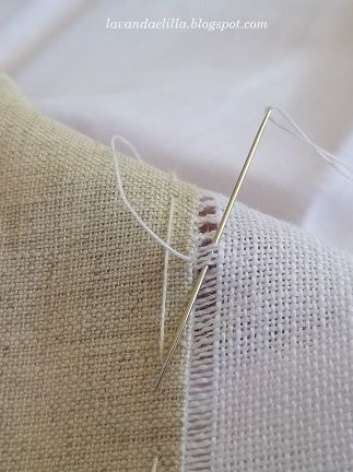 Pictorial To attach two fabrics using hemstitch - text in Italian but pictures are great!