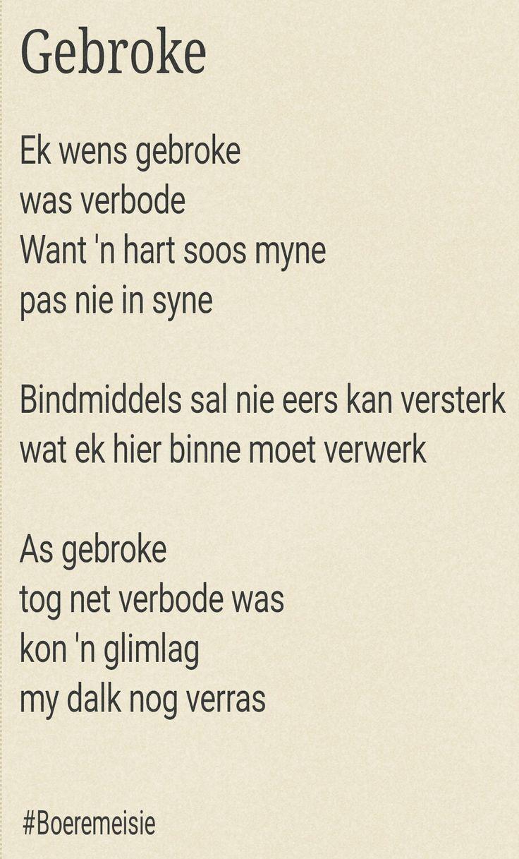 Gebroke... #Afrikaans Poësie deur #Boeremeisie #loveHurts