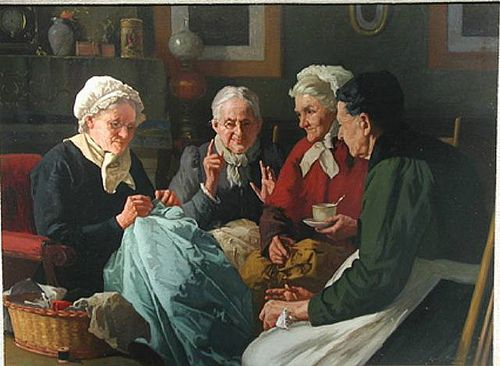 Louis Henry Charles Moeller the Sewing Circle......LES ...