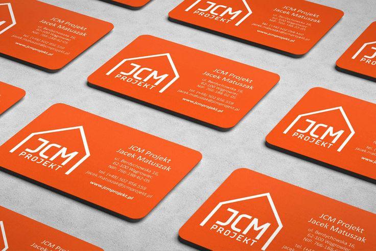 JCM Projekt / Projekt logo i wizytówek biura projektowo-budowlanego z Wągrowca.