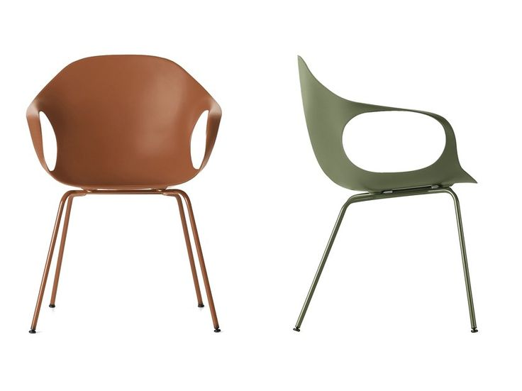 Polyurethane chair with armrests ELEPHANT | Polyurethane chair by Kristalia