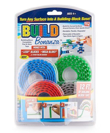 This Blue U0026 Red Build Bonanza Block Tape Set Is Perfect! #zulilyfinds