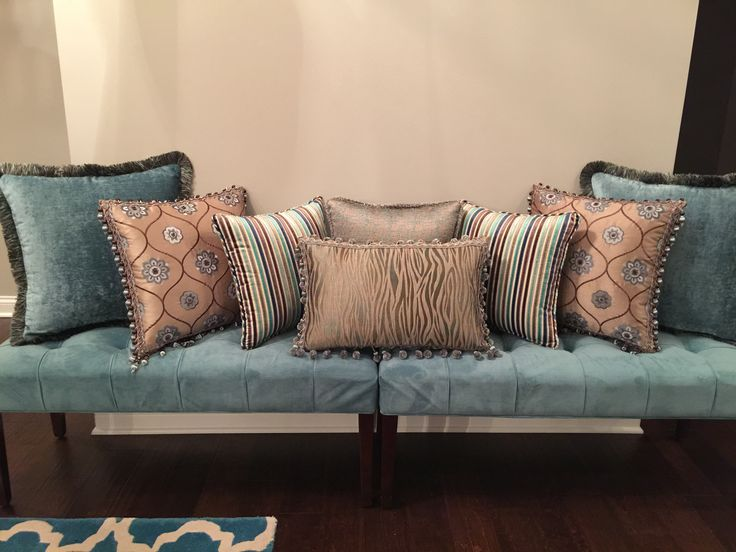 Custom pillows for a sofa in Northbrook, IL.