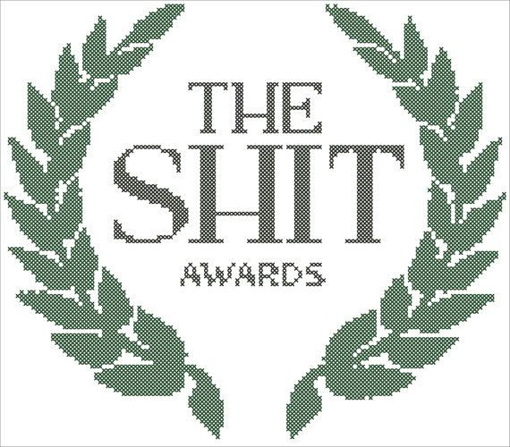 PDF Cross Stitch Pattern 'The shit awards' от mrsMorphineStitch