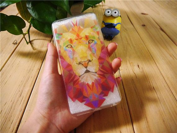 Lion Face Clear Phone Case Cover for iPhone 6 6s by MessageCard
