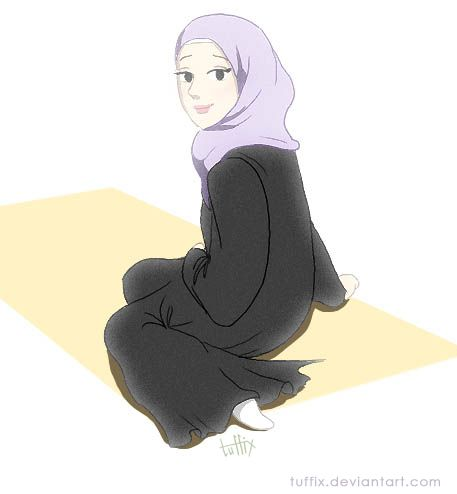 Muslim Lady on Prayer Mat