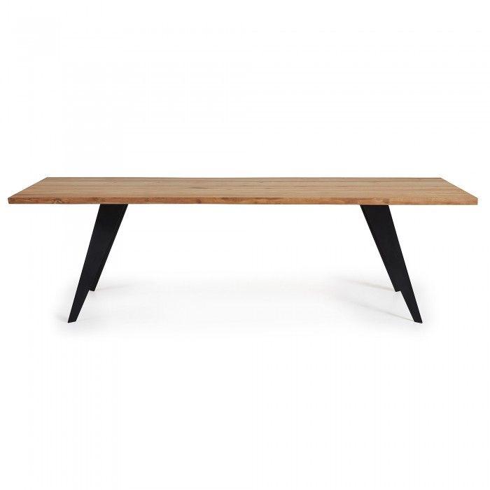 Table Koda 220x100,  Epoxy Noir Chêne Naturel