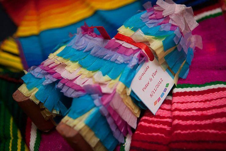 Mexican wedding pinata favors