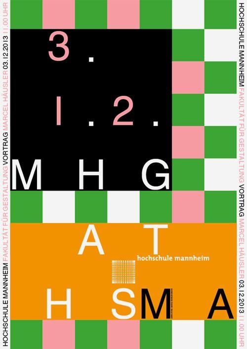 Vortrag an der Hochschule Mannheim, Fakultät für Gestaltung