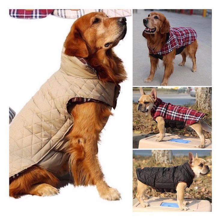 *NewCapa escocesa reversible e impermeable para perros medianos y grandes  No te la pierdas! Sección #boutique  #deliverygratis #mascotas #dogs #perros #boutique #golden #labrador #pitbull #ovejero