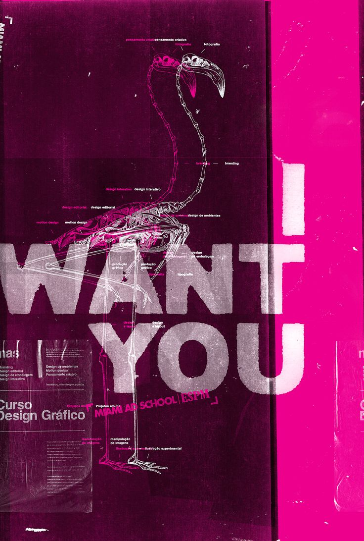 Poster design layout - Miami Ad School I Want You