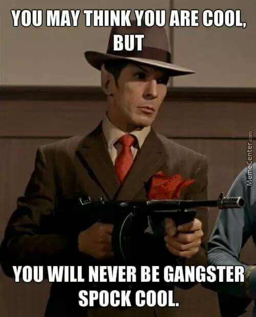 This is extremely true...no one can be gangster like Spock