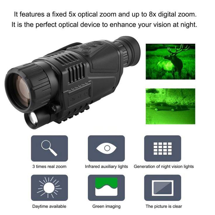 Night-Vision Monocular Tactical Infrared Night Vision Telescope Military HD Digital Monocular Telescope Night Hunting Navigation #Night-Vision, #Monocular, #Tactical, #Infrared, #Night, #Vision, #Telescope, #Military, #Digital, #Hunting, #Navigation