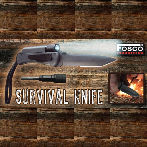 Survival mes met lamp en fire starter #9105    Survival mes met lamp en fire starter    Artikelnummer: 455417