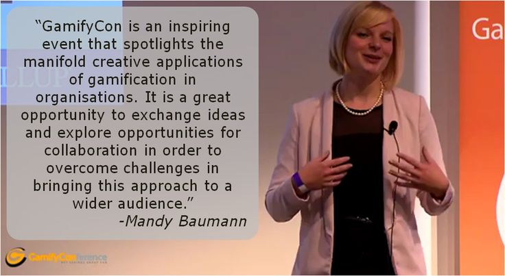 Mandy Baumann about the Gamify Conference 2013:  #gamification #gamifycon