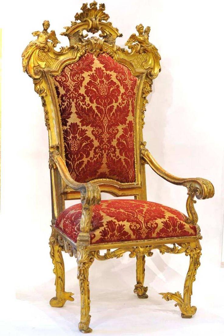 18th Century Italian Emilian Giltwood Armchair Antiques