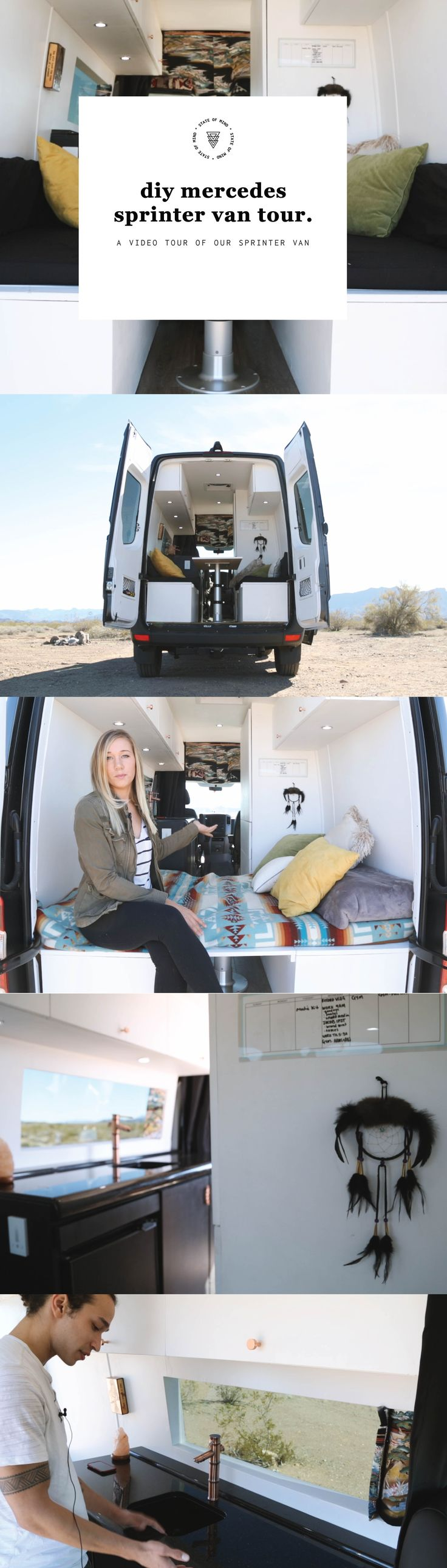 Van Life: Diy Mercedes Sprinter Van Conversion Tour.