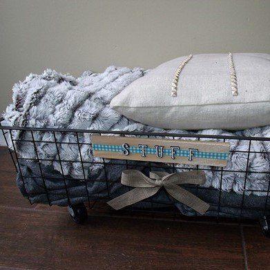 DIY Rollling Organizer Basket