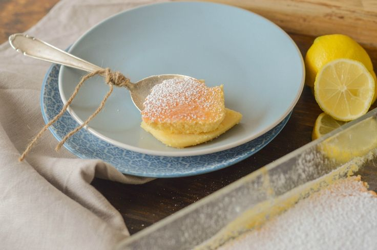 A curdy pudding cake, the perfect lemon-y dessert!