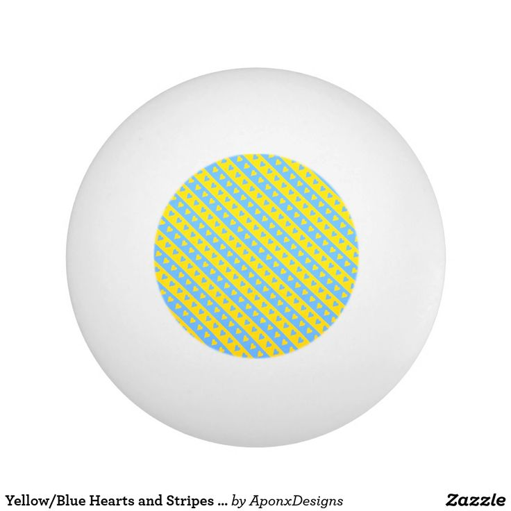 Yellow/Blue Hearts and Stripes Pattern
