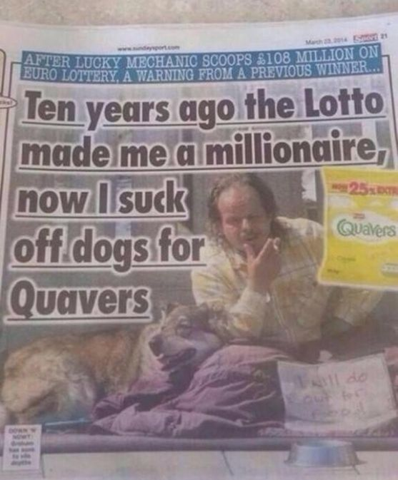 *******  When the Sunday Sport made you look at Quavers in a different way. | The 30 Most Head-Scratchingly Bizarre News Headlines Of All Time