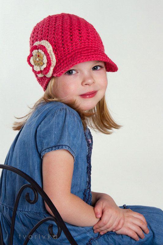 NEW Caroline hat: crochet pattern visor newsboy newsgirl hat in baby toddler child teen woman size for girls and women