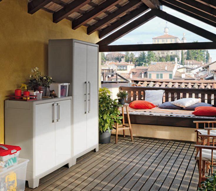 GULLIVER - Armadio in plastica impermeabile per esterni e balcone.  Dovete solo scegliere come riempirlo!  Made in italy waterproof cabinet for terraces and outdoor  #madeinitaly #design