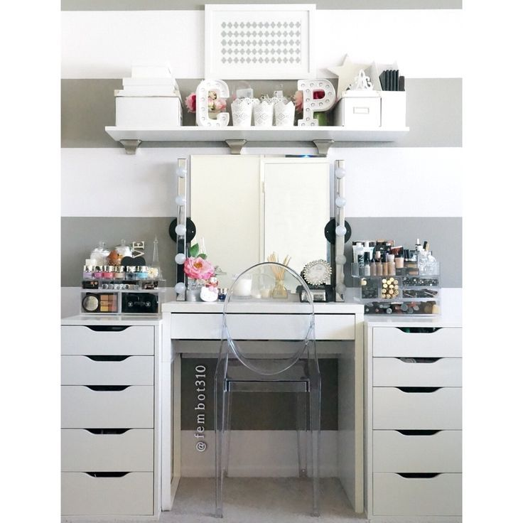 ikea micke and alex google search craft room pinterest rangements maquillage bureau. Black Bedroom Furniture Sets. Home Design Ideas