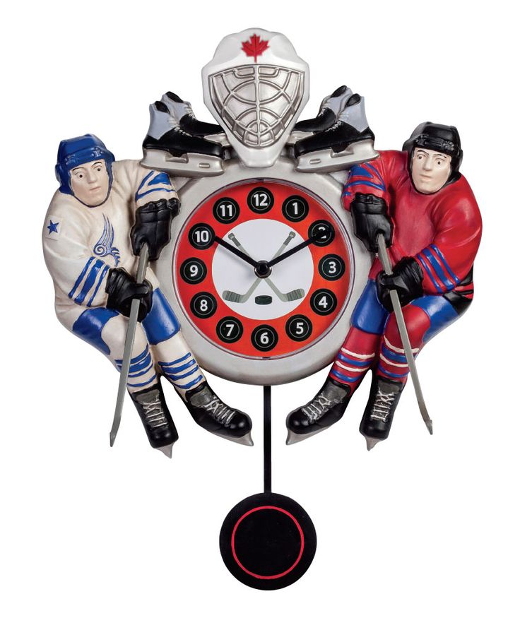 Make sure the #Hockey fan in your life always knows how much time is left until the game starts with this pendulum wall clock inspired by #Canada's favourite pass time.