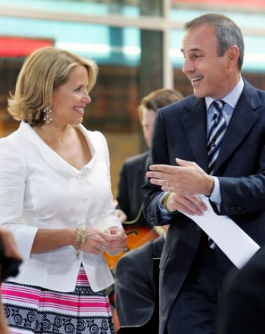 FOX NEWS: Matt Lauer caught telling Katie Couric to 'keep bending over like that' in 2006 video clip