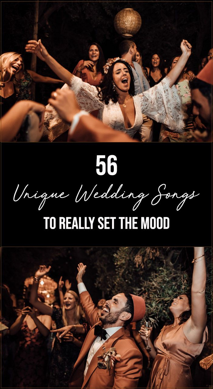 56 Unique Wedding Songs to Really Set the Mood