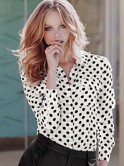 32 best trend we love black white images on pinterest for Victoria secret button down shirt