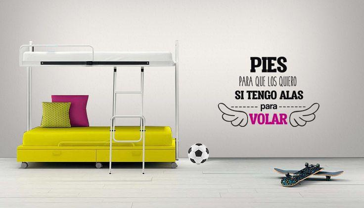 Alas Para Volar - Vinilos Decorativos Fotomurales Adhesivos - Medellín