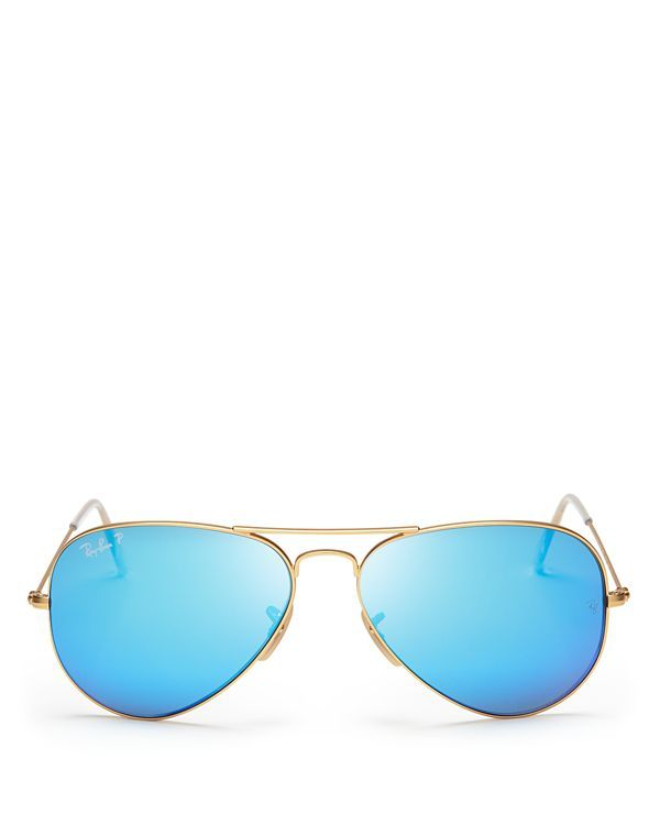 polarized mirrored aviator sunglasses cl0k  Ray-Ban Polarized Mirrored Aviator Sunglasses, 58mm