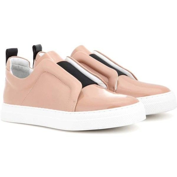 Pierre Hardy Slider Leather Sneakers (2828725 PYG) ❤ liked on Polyvore featuring shoes, sneakers, pink, pierre hardy, pierre hardy sneakers, pink shoes, real leather shoes and pierre hardy shoes