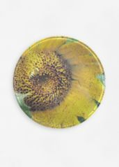 Speckled Sun: Glass tray - round $35.00 USD