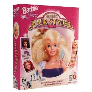Barbie Magic Hair Styler --- http://www.amazon.com/Barbie-Magic-Hair-Styler-Pc/dp/B00000JLRD/?tag=zaheerbabarco-20