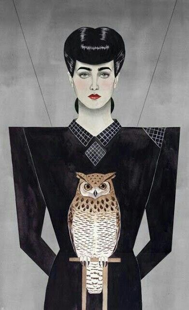 RACHAEL AND THE OWL 'BLADE RUNNER'.