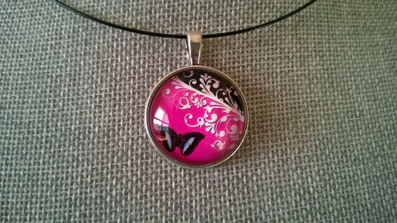 Young lady gift Glass pendant Butterfly by LesBijouxLibellule