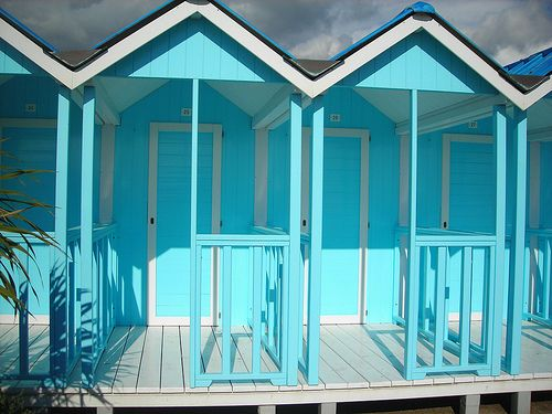 Beach cabanas in Forte dei Marmi #Italy