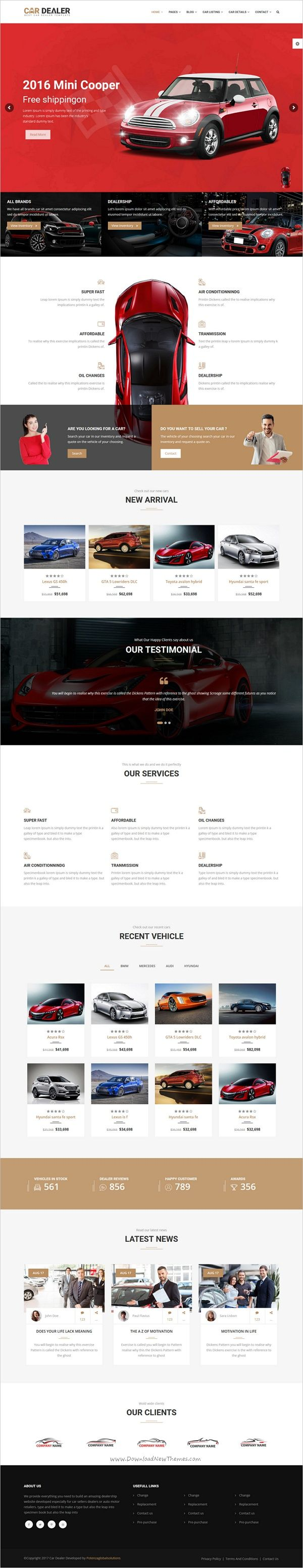 Car dealer the best car dealer automotive responsive html5 template