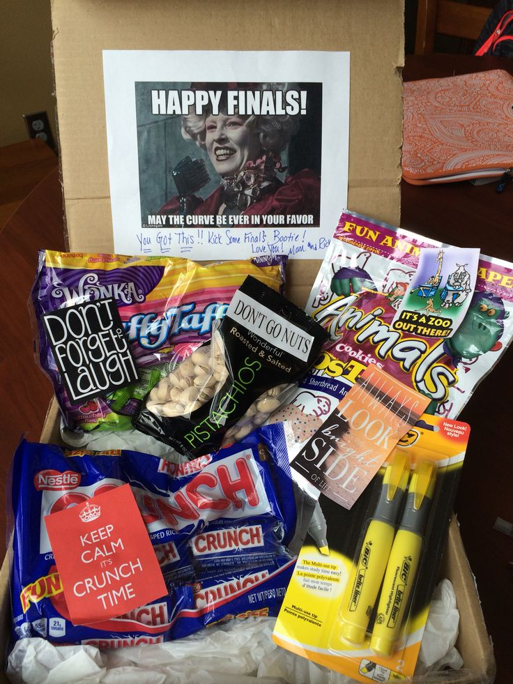 Em's spring finals week care package!